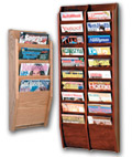 Wooden Wall Magazine Racks