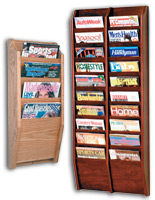 Wooden Wall Magazine Rack
