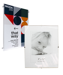 glass clip picture frames