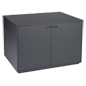 Large top surface retail storage cabinet display table