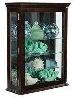 Affordable Espresso Curio Cabinet with Versatile Placement