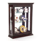 Propped Affordable Espresso Curio Cabinet