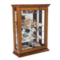 Economical Oak Curio Cabinet with Props on Shelves