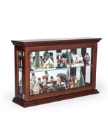 Economy Wall Curio Cabinet Propped with Holiday Decor