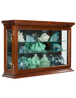 Economy Wall Curio Cabinet with 4 Clear Gloss Coats