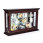 Mahogany Countertop Curio Cabinet with Props on Glass Shelves