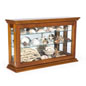 Oak Mirror Back Countertop Curio Cabinet with Props