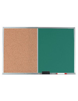 Cork Bulletin Board with Dual Chalk Surface