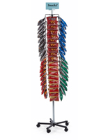 Snack Display Clip Rack with Sign Holder