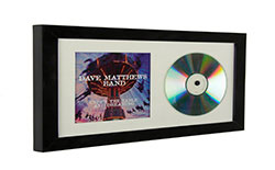cd cover frame with photo mat