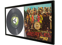 vinyl record frame with photo mat