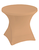 Stretch polyester tablecloths in beige