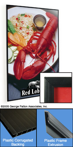 24quot x 36quot black inexpensive poster frame w slideoff sides
