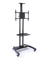 Rolling widescreen TV stand for 40 to 65-inch flatscreens