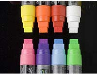 chalk markers shown with 5/8 inch wide flat tip