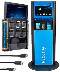 Charging Kiosk with Video Screen