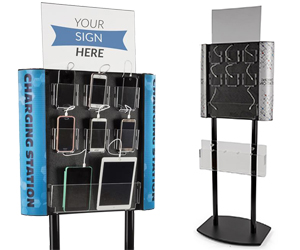 Floor Standing Charging Stations with Literature Pockets