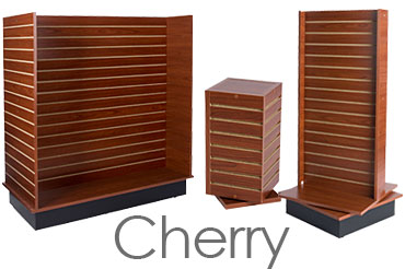 Slatwall Fixtures with Cherry Laminate Finish