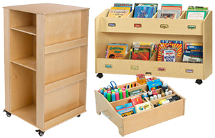 Childrens Daycare Storage and Cubbies