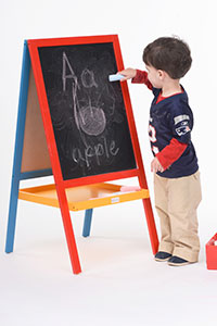 double sided kids easel
