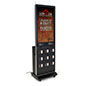 Locking cell phone charging kiosk with messaging capabilities