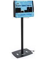 Mobile Device Floor Charging Kiosk for Universitiy Electronics
