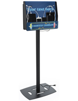 Floor Standing Device Charger Kiosk Customizable Artwork