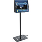 Black Acrylic Floor Standing Device Charger Kiosk