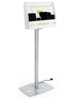 Mobile Phone Floor Charging Stand for Waiting Areas