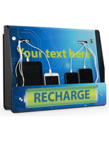 Wall Mount Device Recharge Station with Stock Artwork