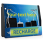 Wall Mount Device Recharge Station with UV Printed Visuals