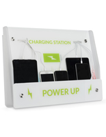 Mobile Phone Wall Charging Kiosk with Lightning Cables
