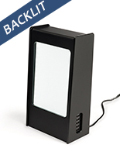 LED menu stand power bank in matte black