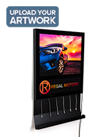 Wall light box charging station with full color printing