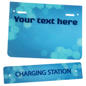 "Replacement ""Charging Station"" Graphic with Custom Message"