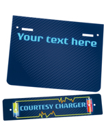 "Pre-Printed Replacement ""Courtesy Charger"" Graphic"