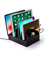 Multi-purpose acrylic charging station for electronics
