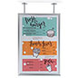 Dual flange anchor silver ceiling poster frame for advertising