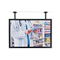Dual flange pipe mount poster hanging frame for restaurants