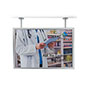 Flange dual pipe mount poster display frame for stores