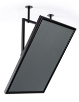 Black 24 x 36 ceiling swivel mount sign frame