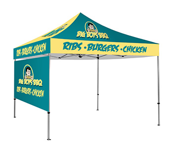 Custom printed canopy tent and sidewalls.