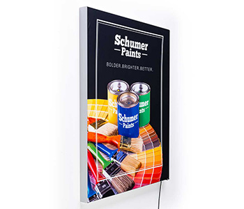Custom printed wall signs with vivid graphics.