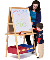 Classroom easels for young children