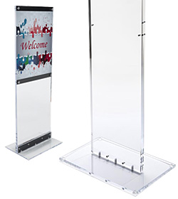 Clear Acrylic Poster Stands