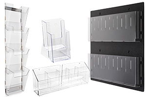 Plastic Wall Literature Racks