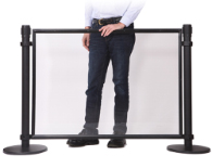 Clear panel stanchion post accessories