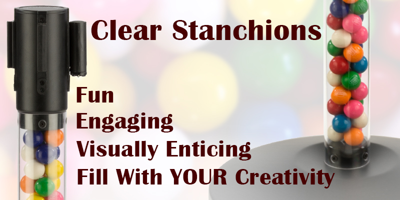 clear fillable stanchions