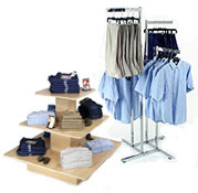 clothing racks and stands for retail