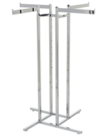 Floor Standing 4-Way Clothing Rack